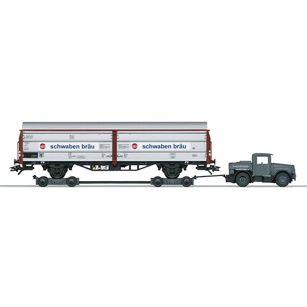 Marklin 46819 Sliding Wall Boxcar with Kaelble and Culemeyer Trailer