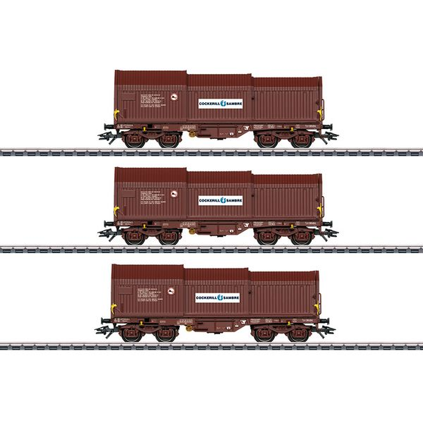 Marklin 46873 Freight Car Set with Three Telescoping Cover Cars