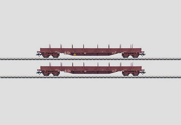Marklin 47011 Set with 2 Low Side Cars