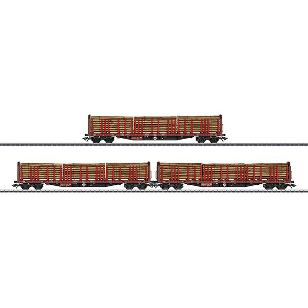 Marklin 47047 Three Type Roos 639 Stake Cars