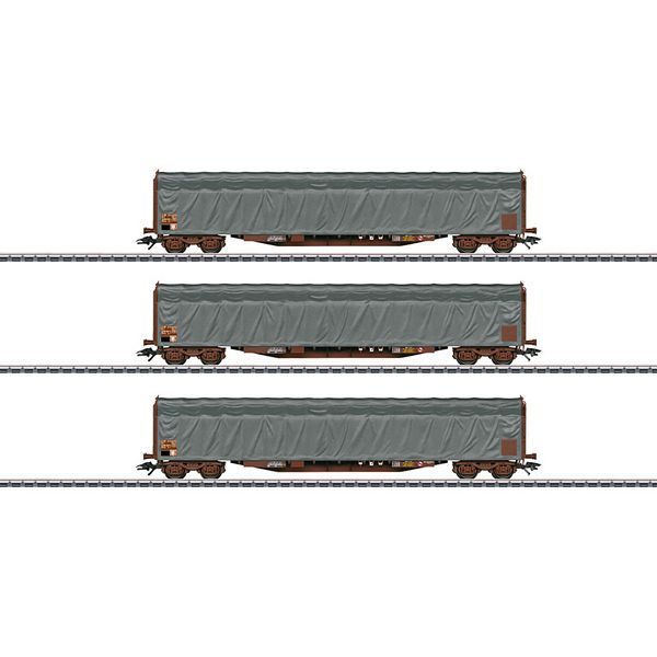 Marklin 47062 Type Rils Sliding Tarp Car Set