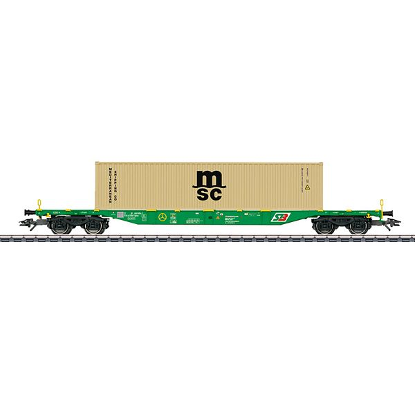Marklin 47066 Type Sgnss Container Transport Car