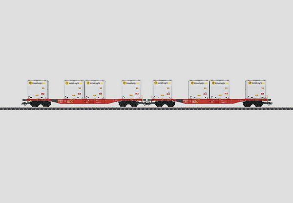 Marklin 47076 Container Flat Car Set