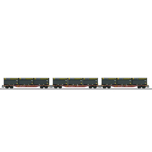 Marklin 47091 DB AG Transport Cars with WoodTainer XXL Containers