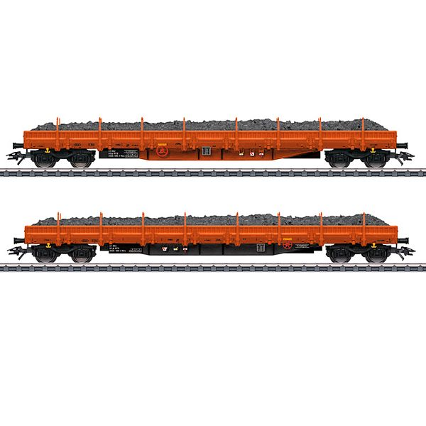 Marklin 47099 Ballast Transport Low Side Car Set