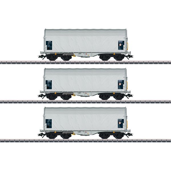 Marklin 47219 Type Shimmns 62 Sliding Tarp Car Set