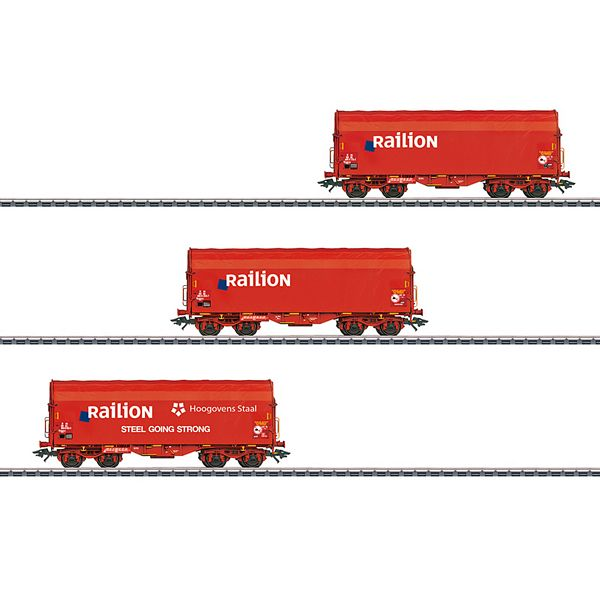 Marklin 47221 Set with 3 Type Shimmns Sliding Tarp Cars
