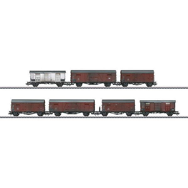 Marklin 47367 DB and FS Freight Car Set