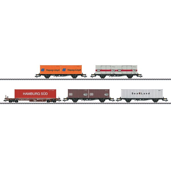 Marklin 47689 Container Flat Car Set with 5 Cars