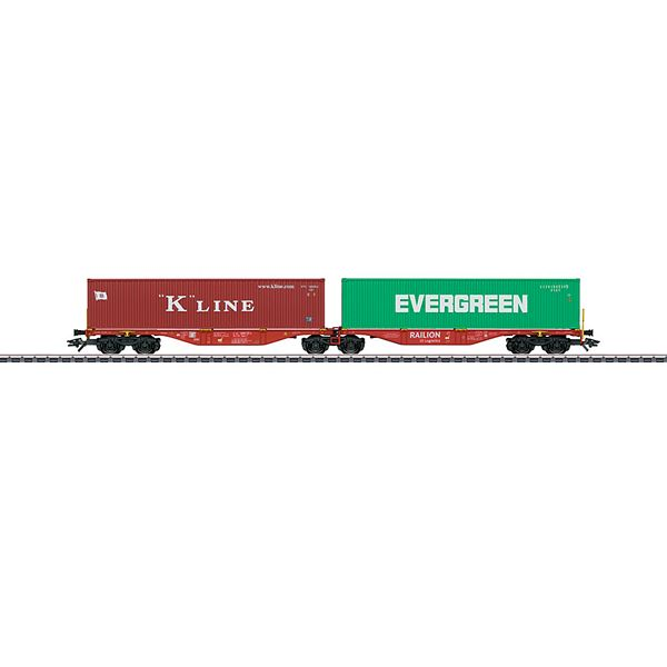 Marklin 47800 Type Sggrss 80 Double Container Transport Car