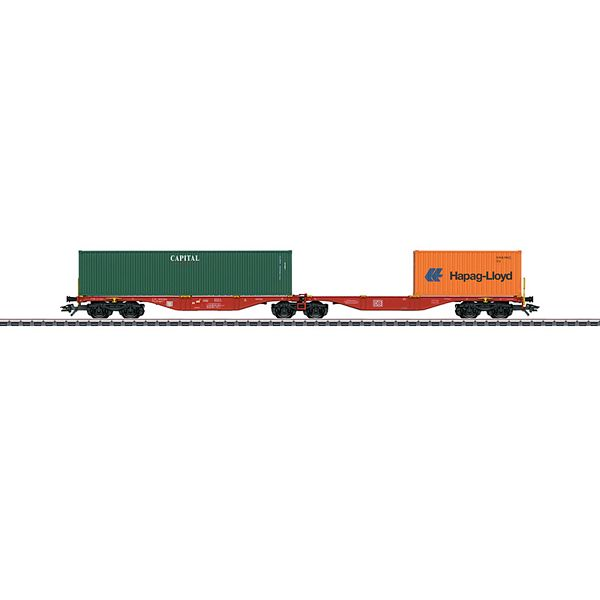 Marklin 47801 Type Sggrss 80 Double Container Transport Car