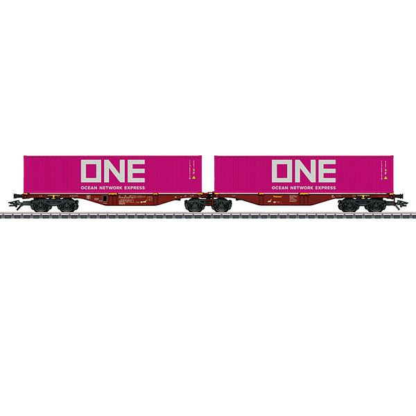 Marklin 47808 Type Sggrss Double Container Transport Car