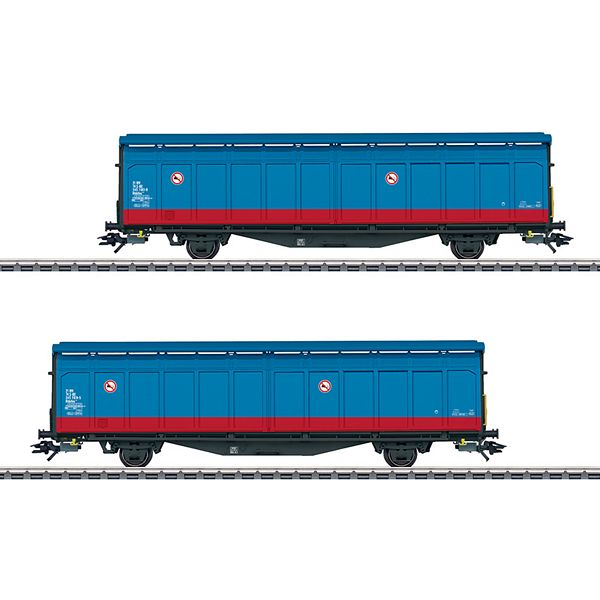Marklin 48013 Two Type Hbbillns Sliding Wall Boxcars