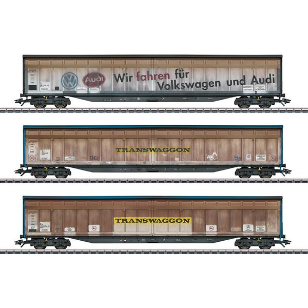 Marklin 48063 Transwaggon Sliding Wall Boxcar Set