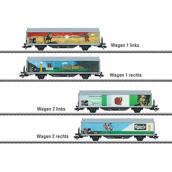 Marklin 48342 Sliding Wall Boxcar Set