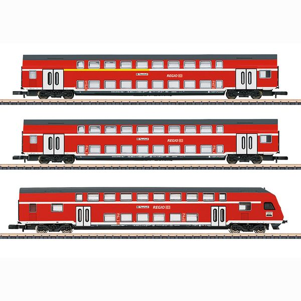 Marklin 87297 DB Regio AG Bi-Level Car Set