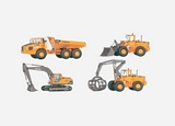 Marklin 00788 Sales Pack of 4 Volvo Construction Machinery