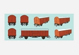 Marklin 007941 Set of 4 Box Cars