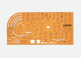 Marklin 0210 Track Planning Stencil for K Track