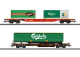 Marklin 47109 Carlsberg and Tuborg KLV Combination Load Service Freight Car Set