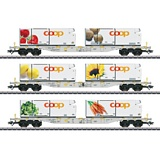 Marklin 47461 Coop Container Flat Car Set