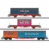 Marklin 47580 Type Lgs 580 Container Transport Car Set