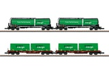 Marklin 82533 Green Cargo Freight Car Set