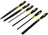Sona Enterprises 73019NF Hobby File Set with Black Yellow Handles