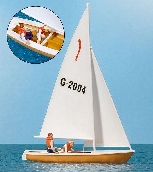 Preiser 10681 Sailing Boat with Sailors