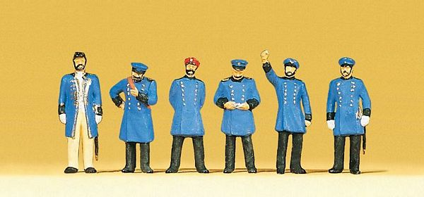 Preiser 12130 Royal Prussian Railway Personnel Around 1900