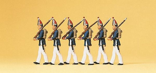 Preiser 12189 1 Guards regiment on foot Potsdam 1894