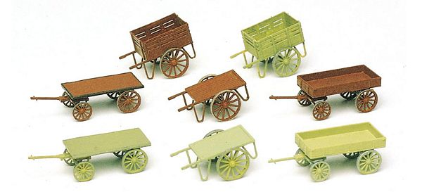Preiser 17103 Hand Carts8 pieces Kit