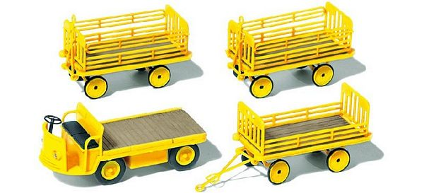 Preiser 17121 Vehicle with 3 Trailers