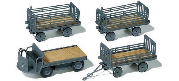 Preiser 17122 Vehicle with 3 Trailers