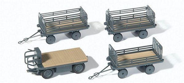 Preiser 17126 Electric Vehicle with 3 Trailers