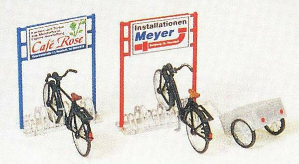 Preiser 17163 Bicyclestand bicyclestrailer Kit