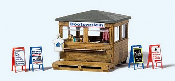 Preiser 17314 Kiosk with Boat Rental Kit