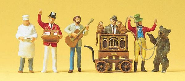 Preiser 24653 Barrel organ musician musician salesmen bear-leader