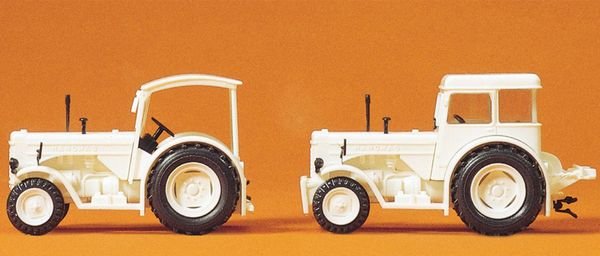 Preiser 24679 Hanomag R 55 white 2 pieces in Kit