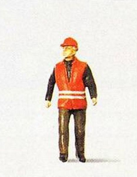 Preiser 28008 Railway worker wearing safety vest