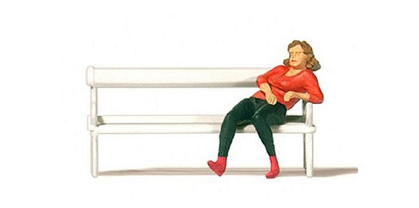 Preiser 28226 Woman Sitting on a Bench