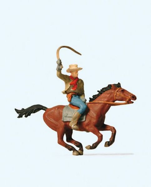 Preiser 29065 Cowboy on Horseback