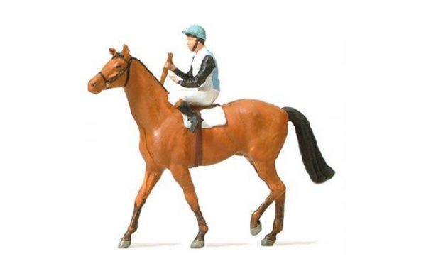 Preiser 29080 Jockey on Horse