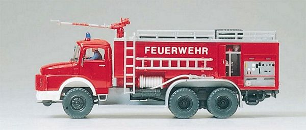 Preiser 31163 Airfield fire tender FTLF8000 Mercedes-Benz LAK 2624