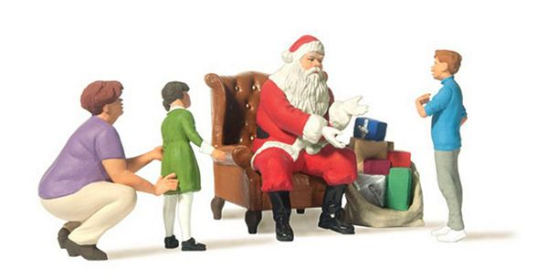 Preiser 44931 Father Christmas Sitting in Chair