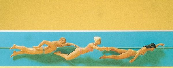 Preiser 45012 Swimming People
