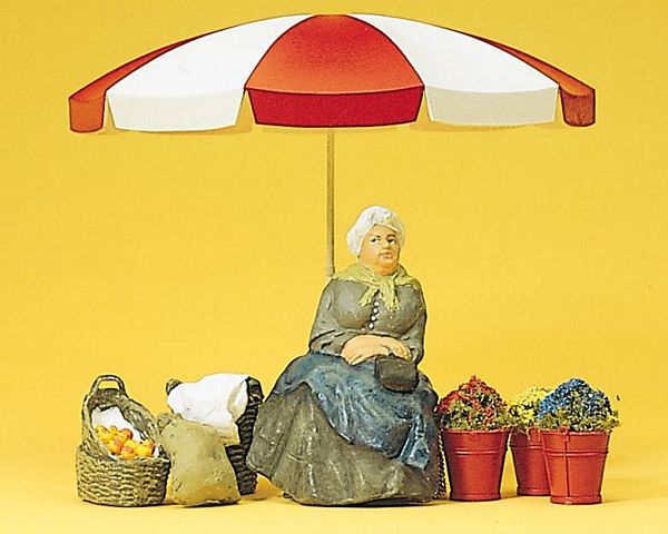 Preiser 45046 Market woman sunshade baskets