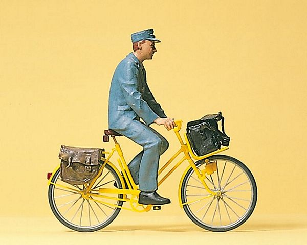 Preiser 45069 Postman on bicycle