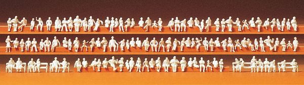 Preiser 79007 Seated persons 120 unpainted miniature figures Kit