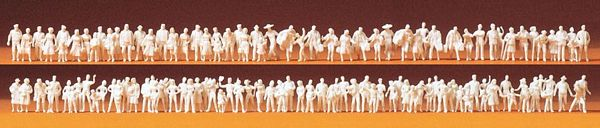 Preiser 79008 Passengerspassers-by 120 unpainted miniature figures Kit